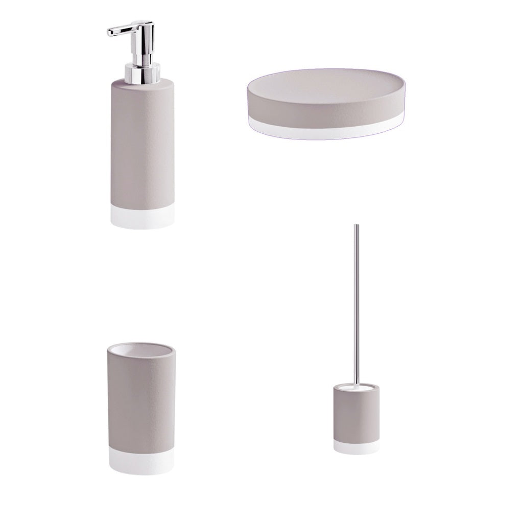 Clear Turtledove Bathroom Accessories Set Gedy New Mizar