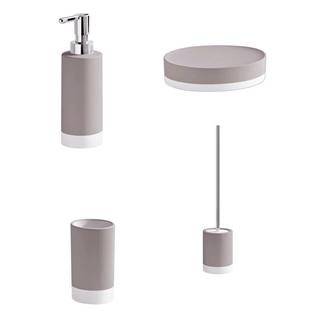 Turtledove Bathroom Accessories Set Gedy New Mizar