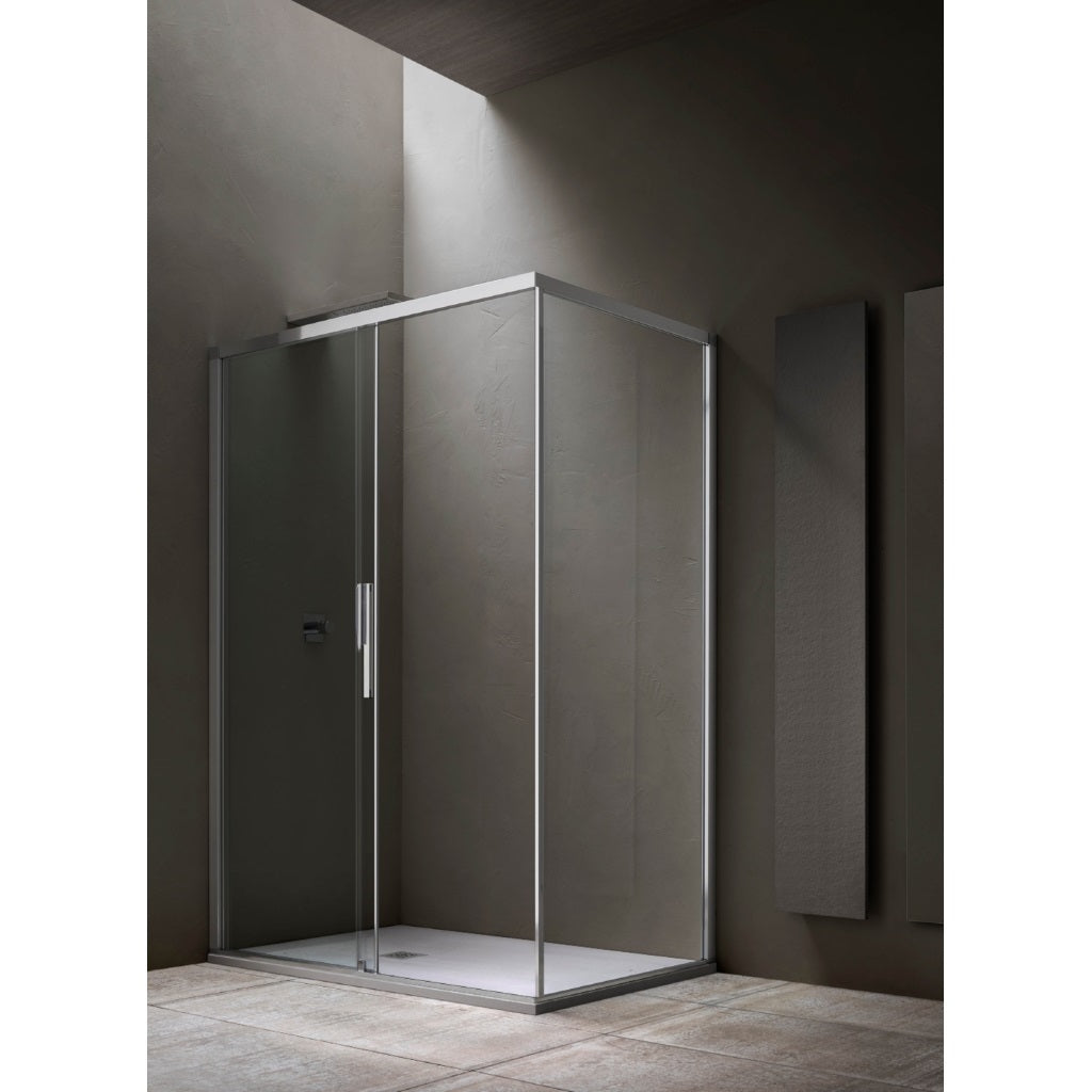 Shower Enclosure Sliding Door Fixed Side Arblu Sirio