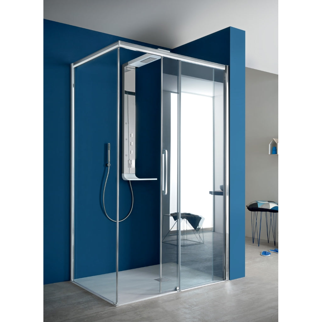 Shower Enclosure Sliding Door Fixed Side Arblu Perseo
