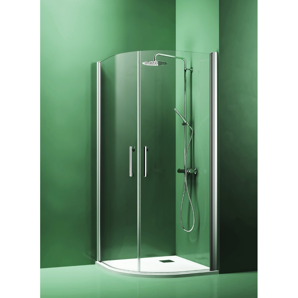 Round Shower Enclosure 2 Hinged Doors Arblu Dedalo Plus