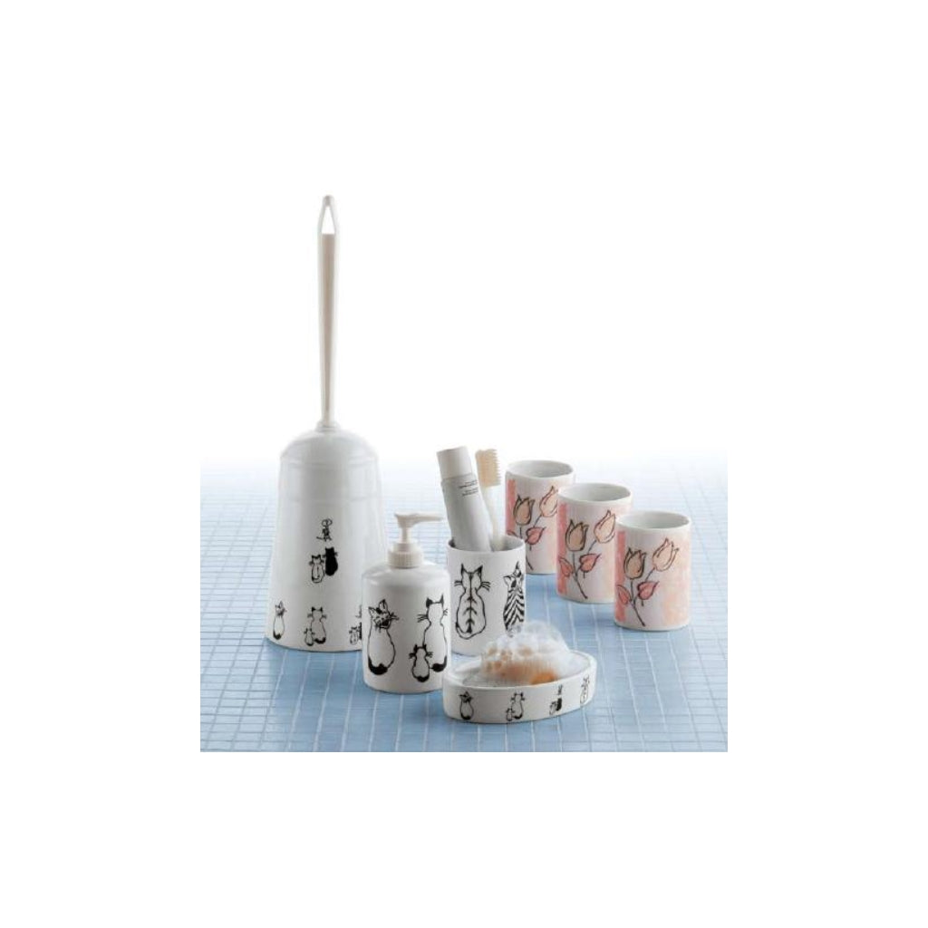 Ceramic Soap Dispenser Holder Gedy Lara Tulipani