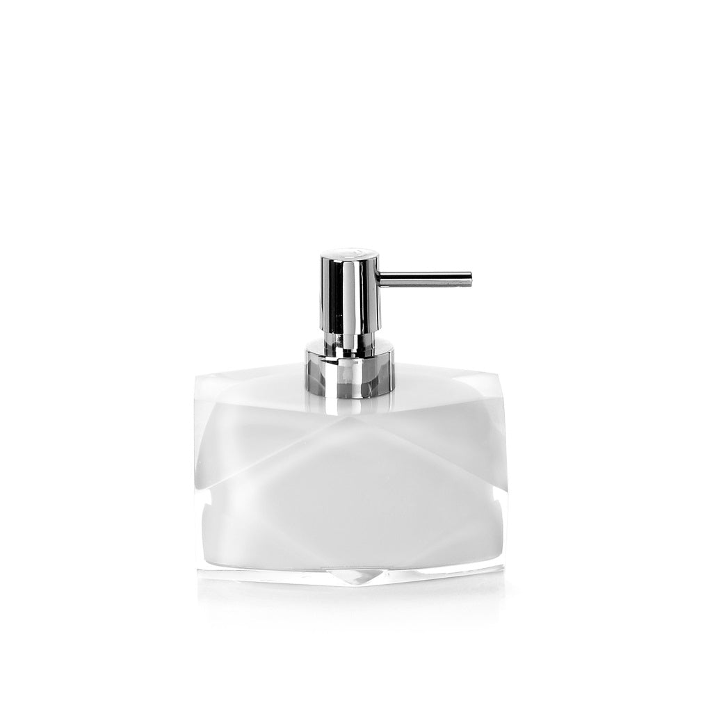 White Soap Dispenser Holder Gedy Chanelle