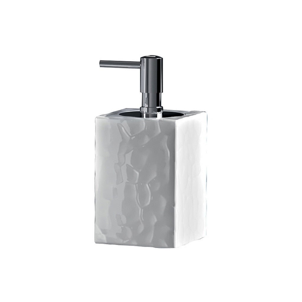 Ceramic White Soap Dispenser Holder Gedy New Martina