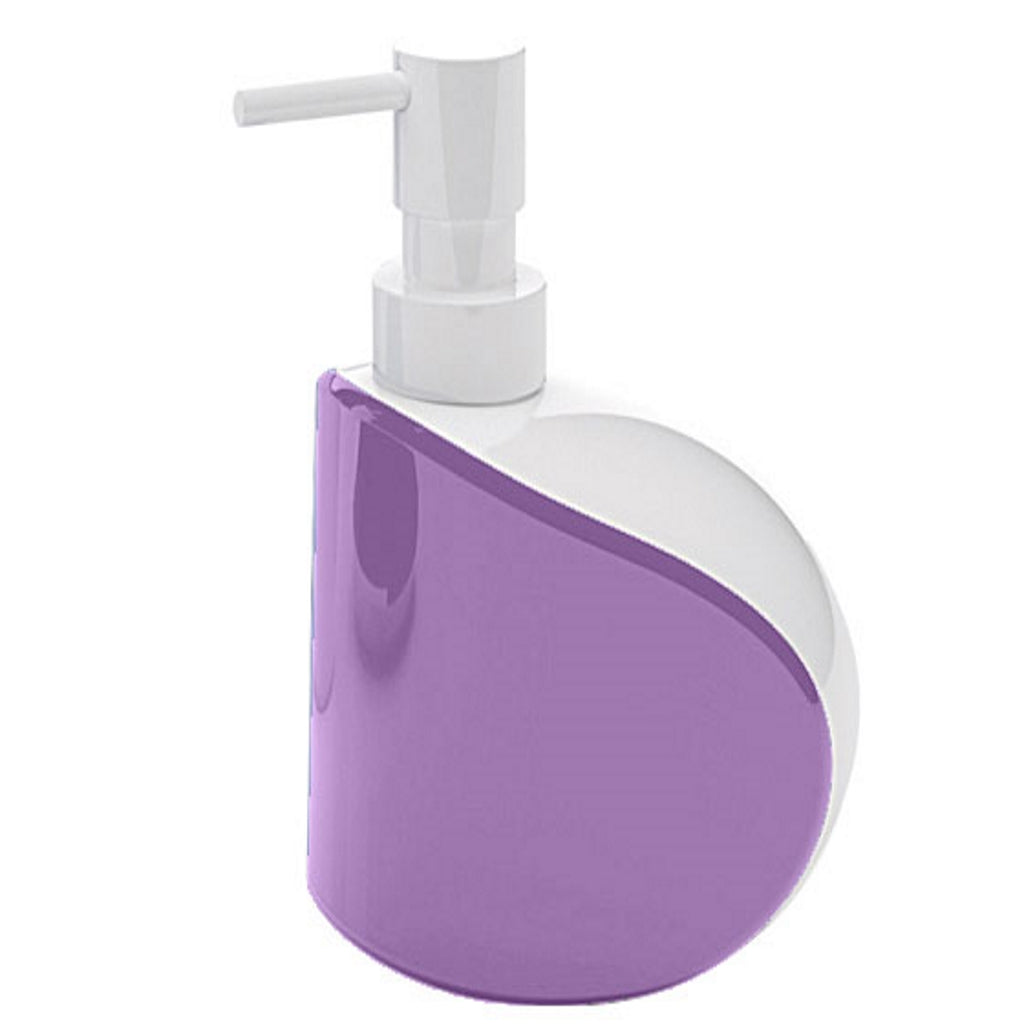 Lilac Soap Dispenser Holder Gedy Moby