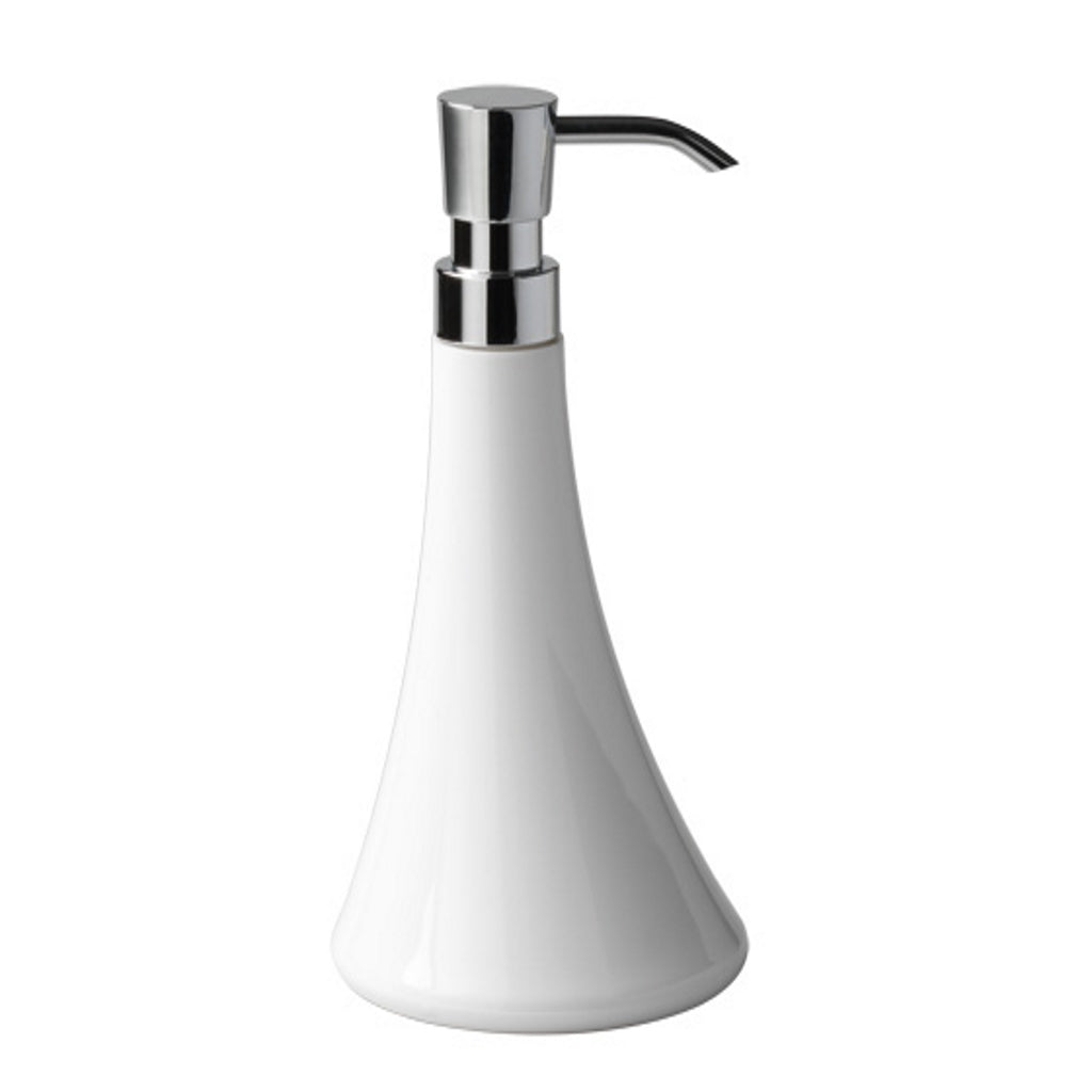 White Soap Dispenser Holder Gedy Flou