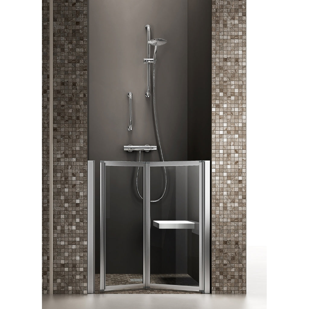 Shower box Time Niche 1 folding door H.95 cm