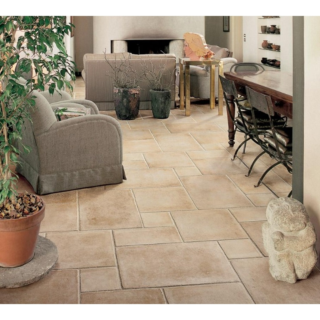 Beige Tiled Wall and Floor Tiles Faenza Tudor B