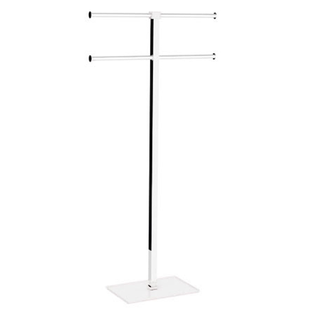 White Towel Stand Gedy Rainbow
