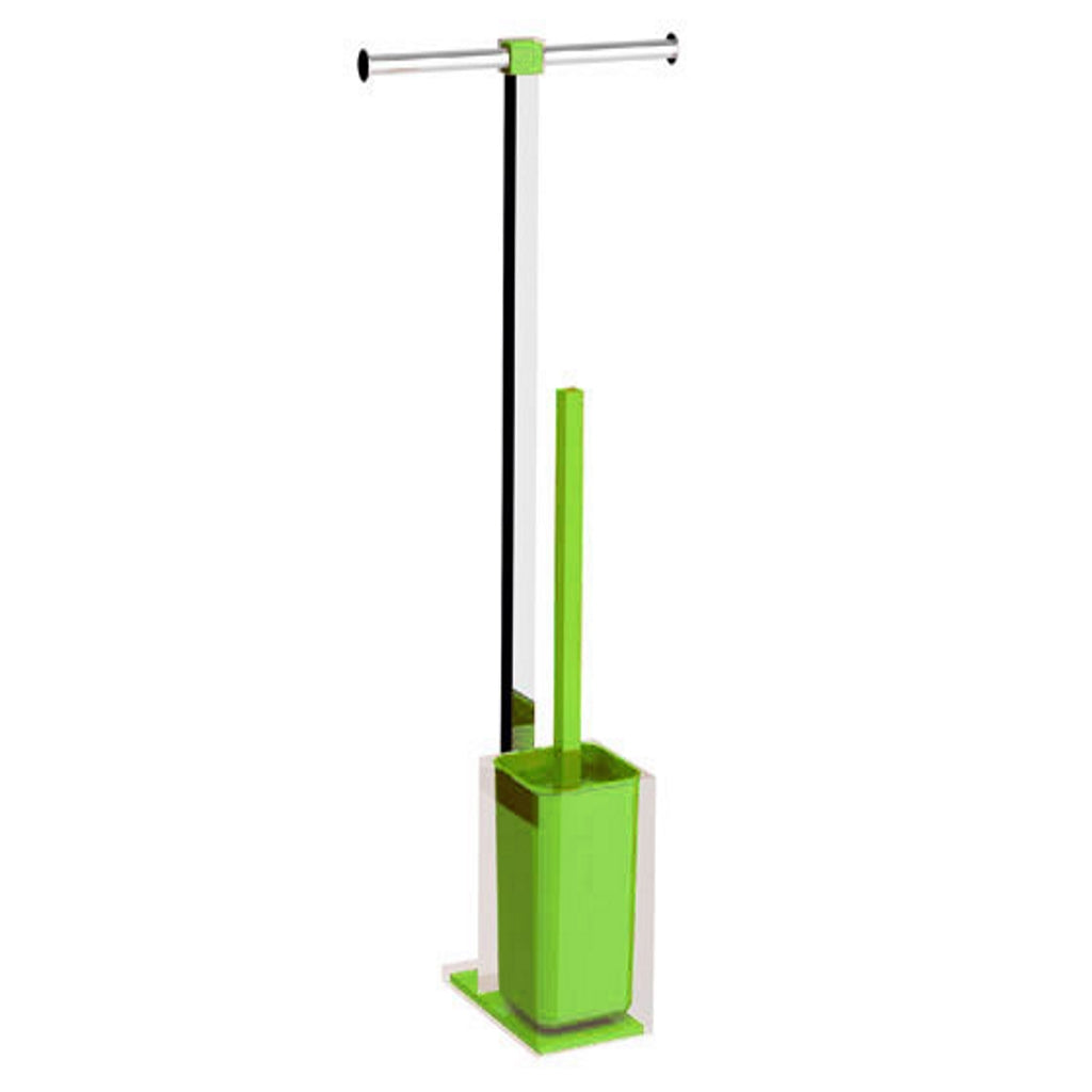 Light Green Toilet and Paper Holder Stand Gedy Rainbow