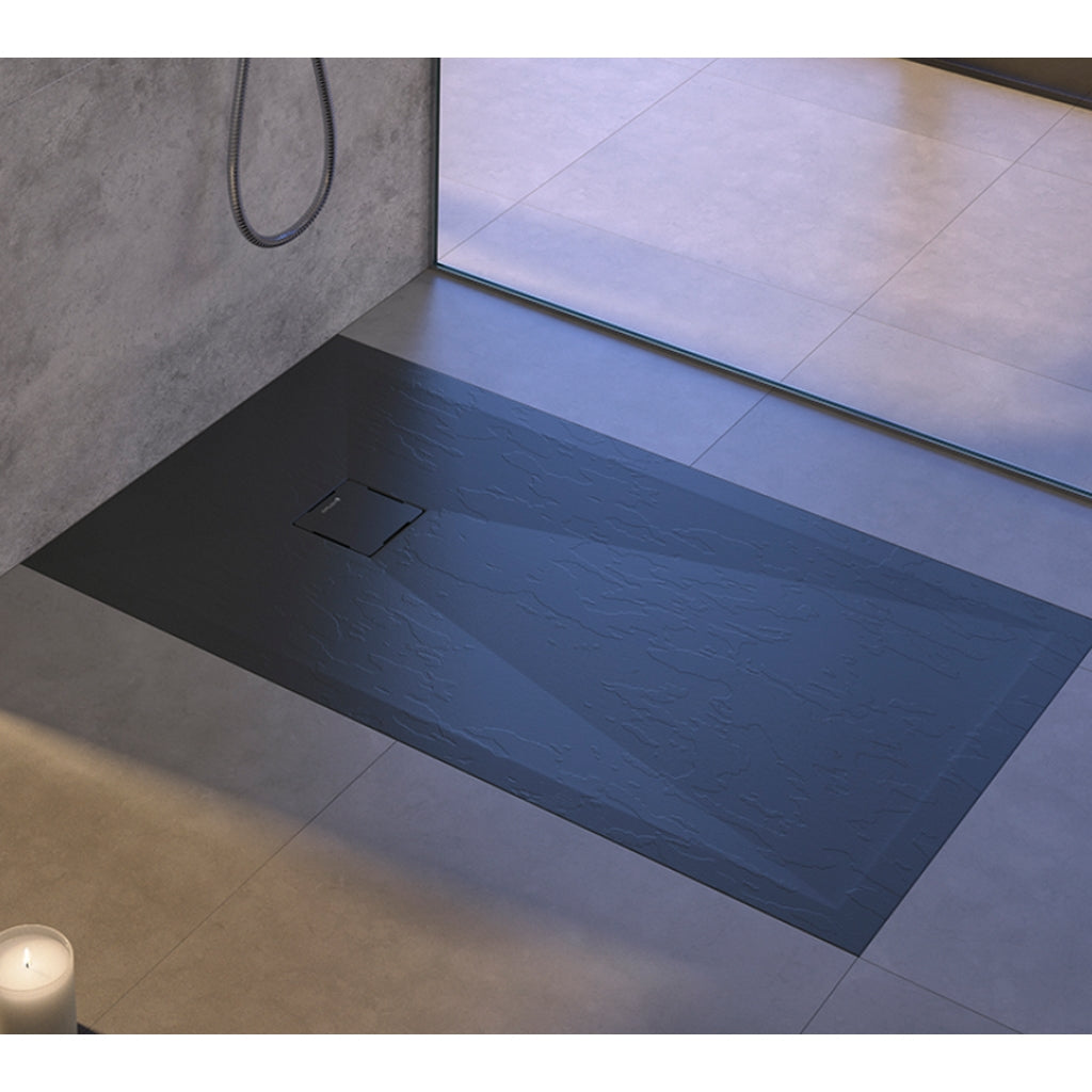 Wood Grey 120x80 h3 Shower Tray Duplach Hidden