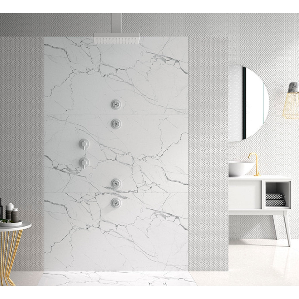Resin White Design Shower Tray Duplach 3D Marmol