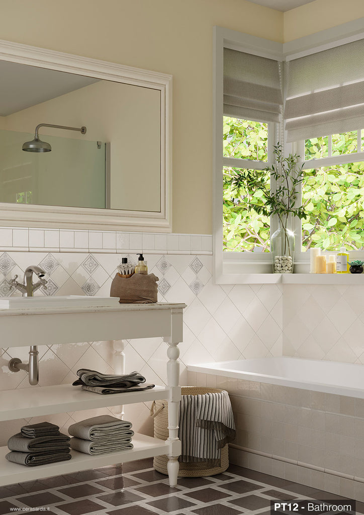 White Bathroom Wall Tiles Cerasarda Pitrizza