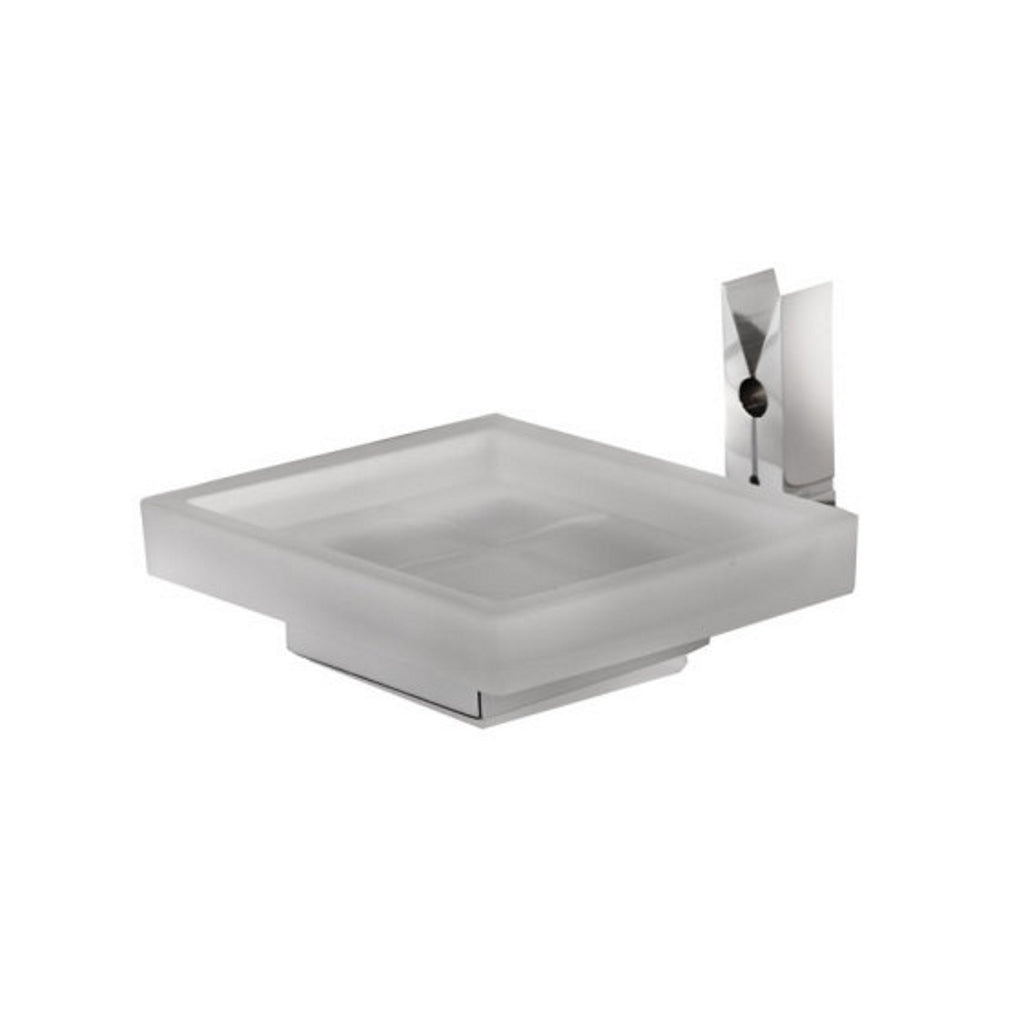Chromed Glass Wall Soap Holder Linea G Molly