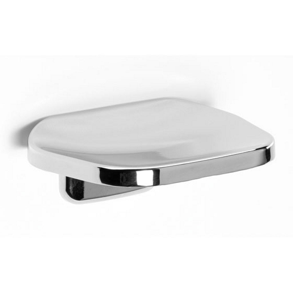 Chromed Glass Wall Soap Holder Gedy Etna