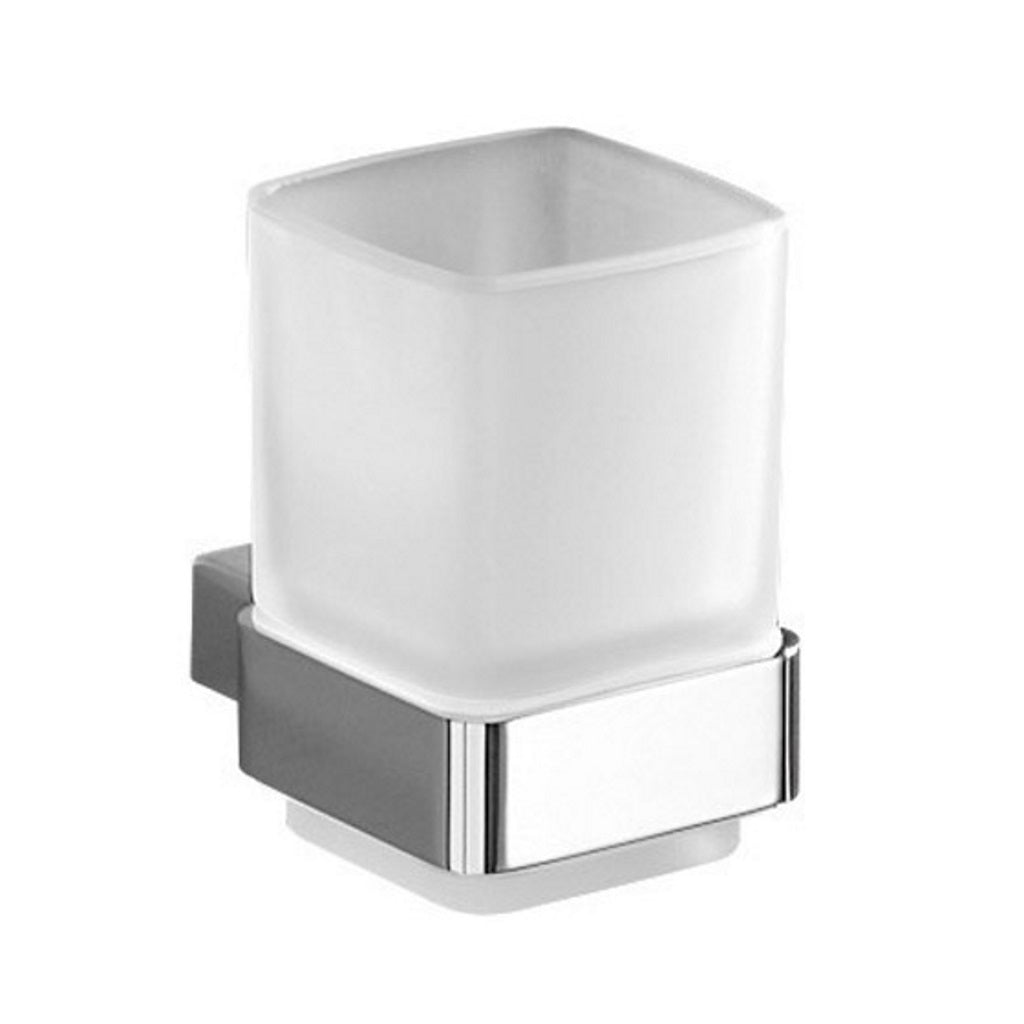 Wall Chromed Glass Tooth Brush Holder Gedy Lounge