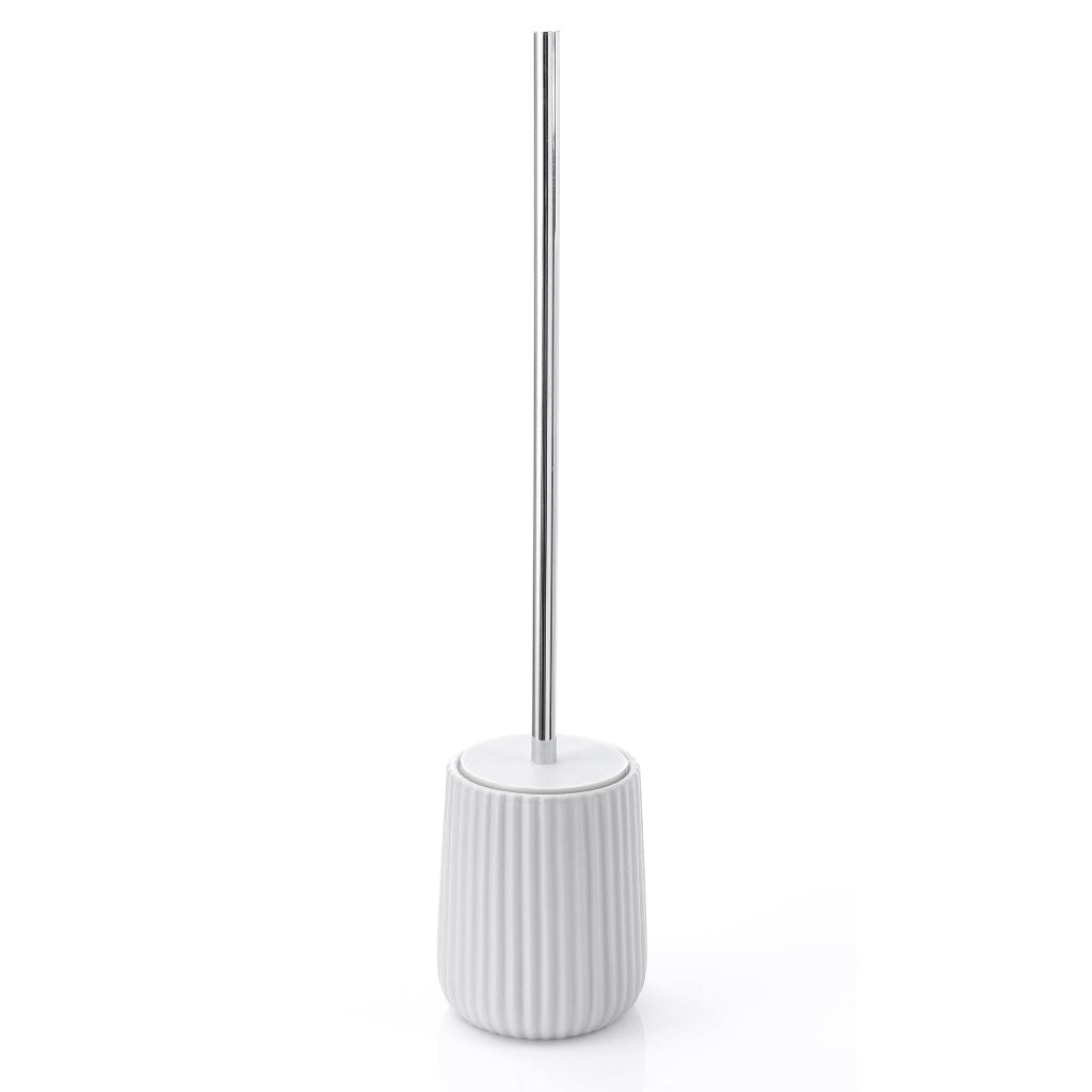 White Toilet WC Brush Holder Gedy Marika