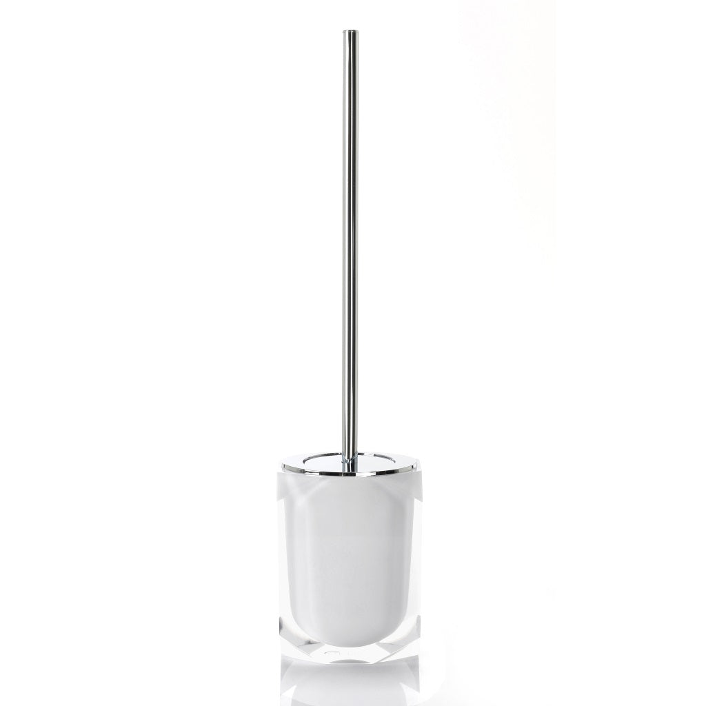 White Toilet WC Brush Holder Gedy Chanelle