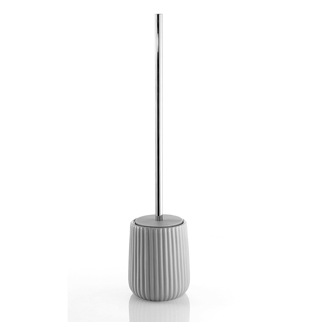 Grey Toilet WC Brush Holder Gedy Marika