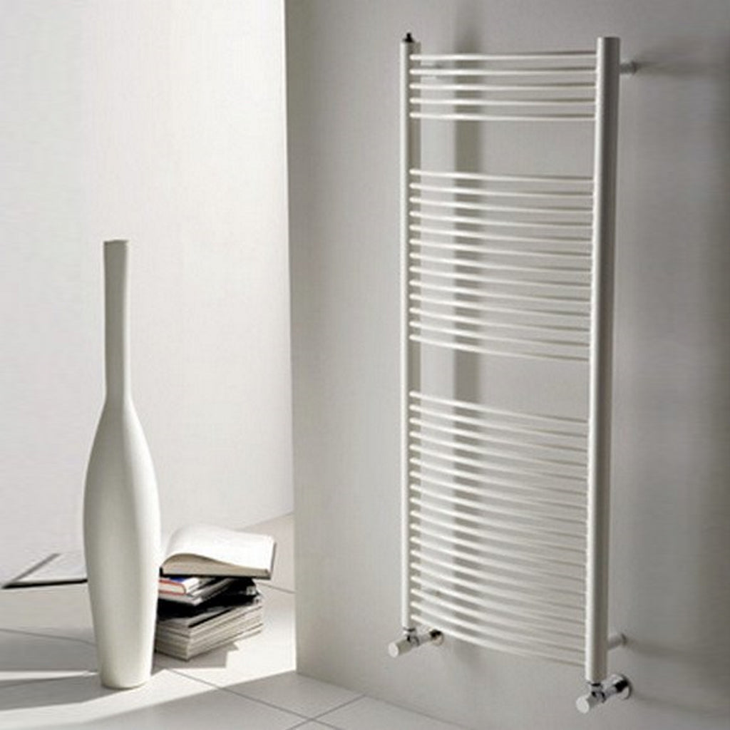 Curve White 80x50 Heated Towel Rails Das Arco