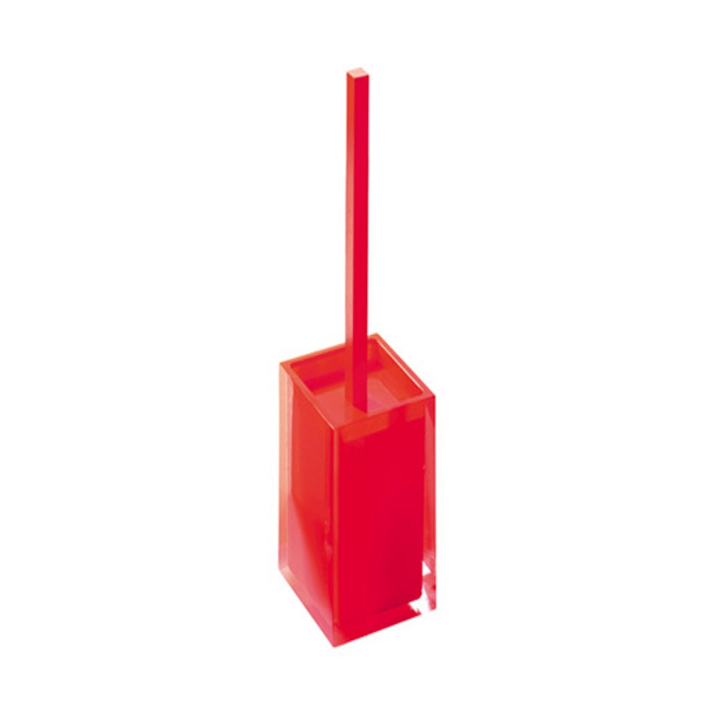 Red Toilet WC Brush Holder Gedy Rainbow