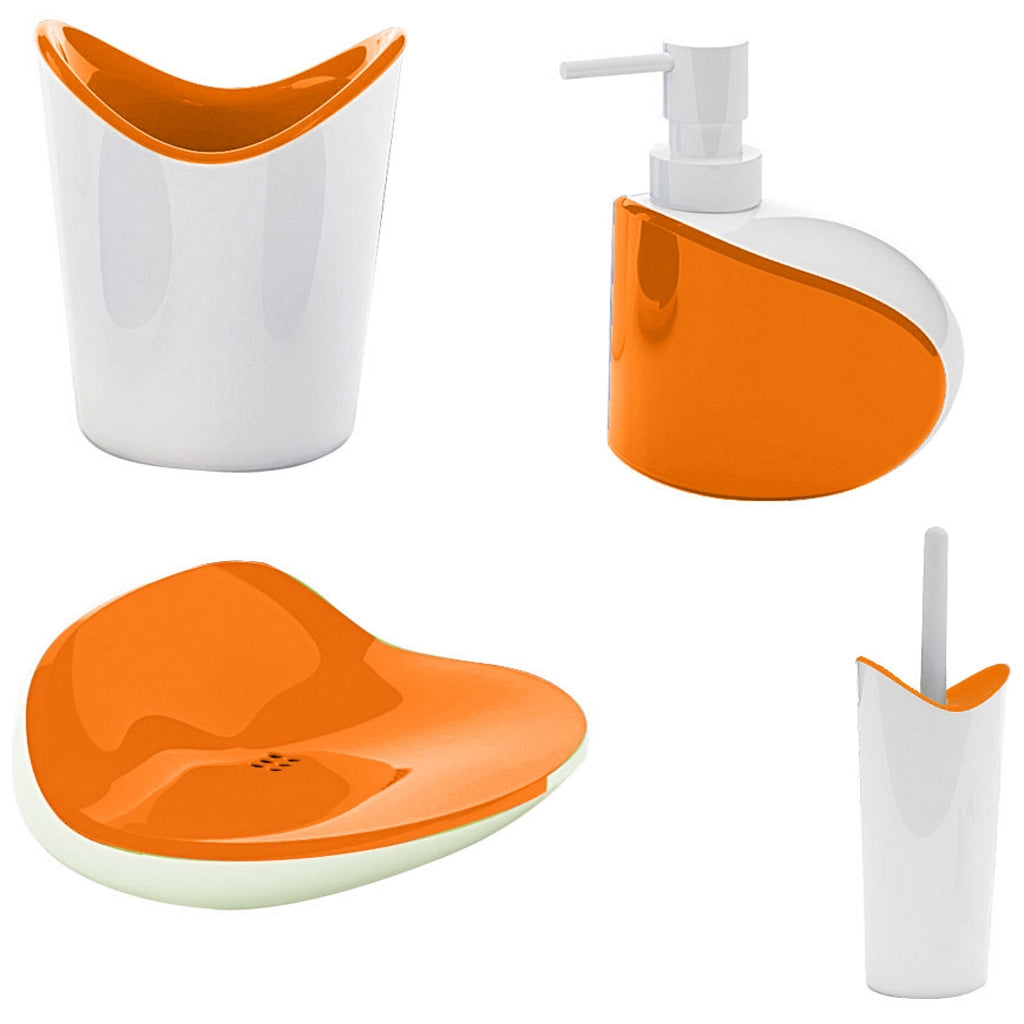 Orange Bathromm Accessories Gedy Moby