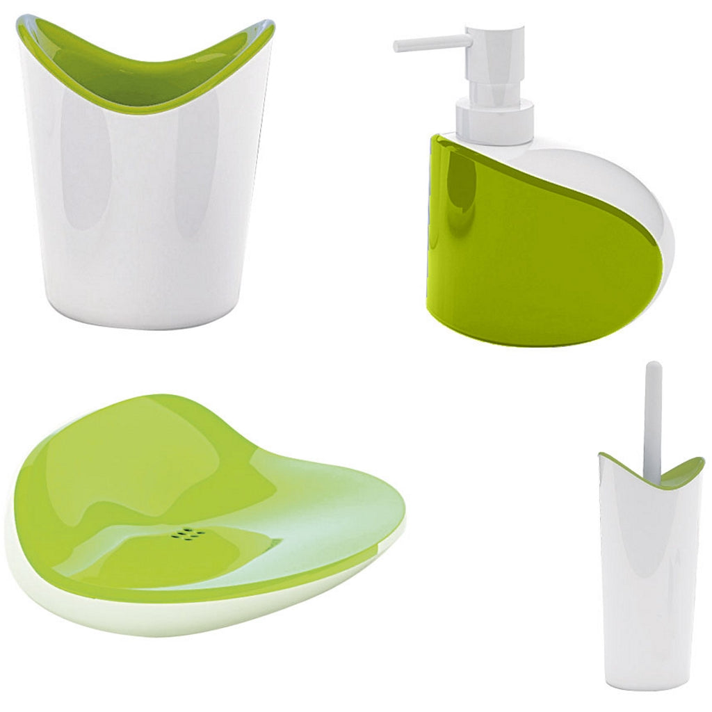 Green Bathroom Accessories Gedy Moby