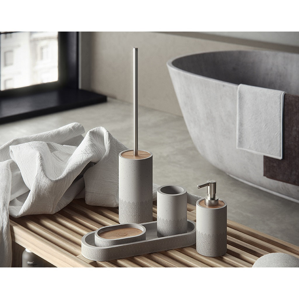 Grey Bathroom Complete Accessories Set Gedy Afrodite