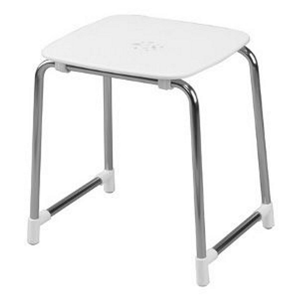 White Chromed Stool Gedy First Class