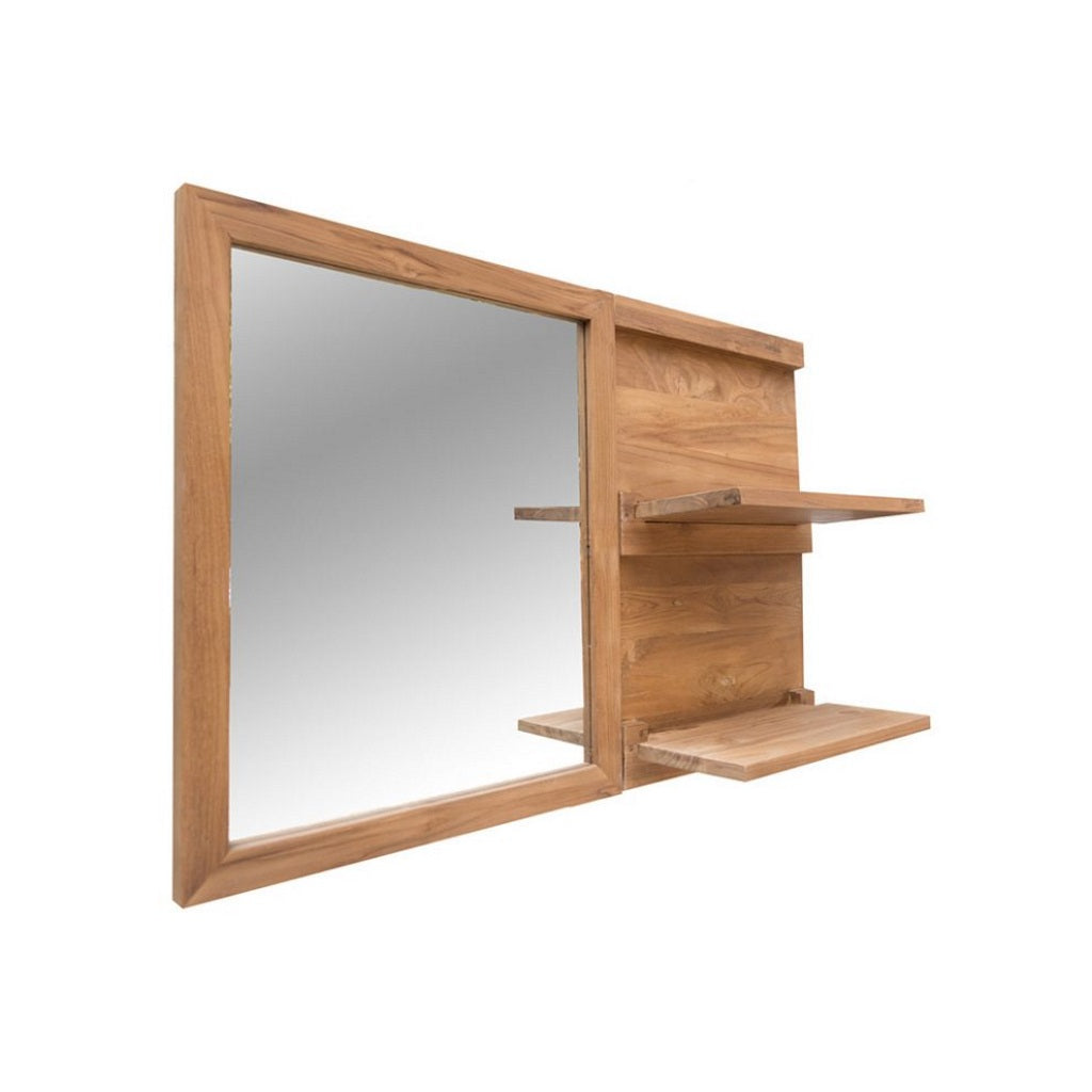 Teak Mirror with Shelf Cipì Fifty
