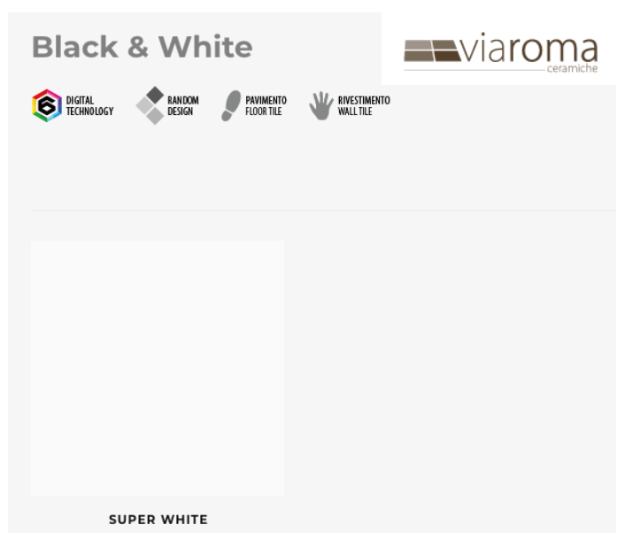 Black & White Spure White Polished Floor Porcelain stoneware Size 60X60 Rectified VIA ROMA