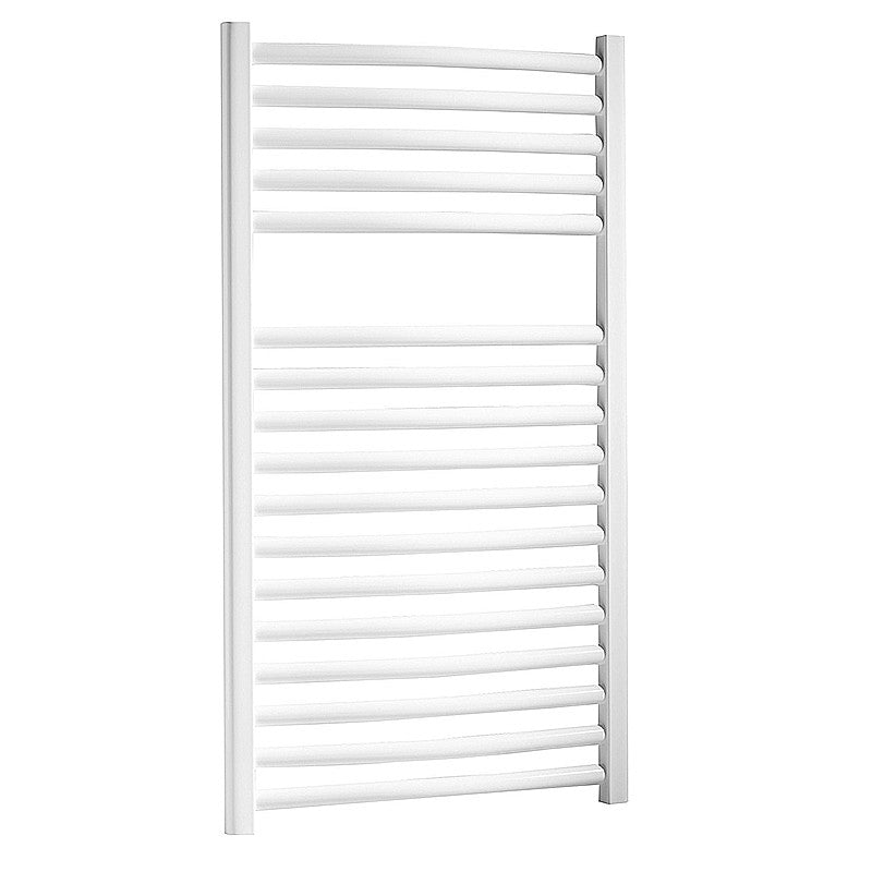White Curve 75x60 Heated Towel Rail Lazzarini Napoli
