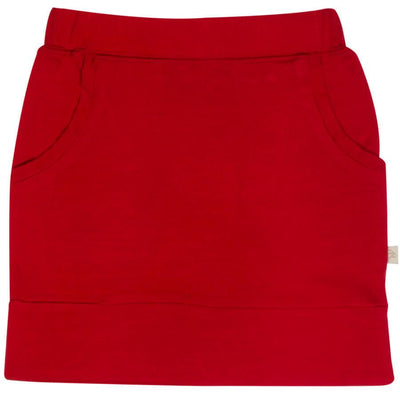 skirt in merino with pockets in size 8_ruby
