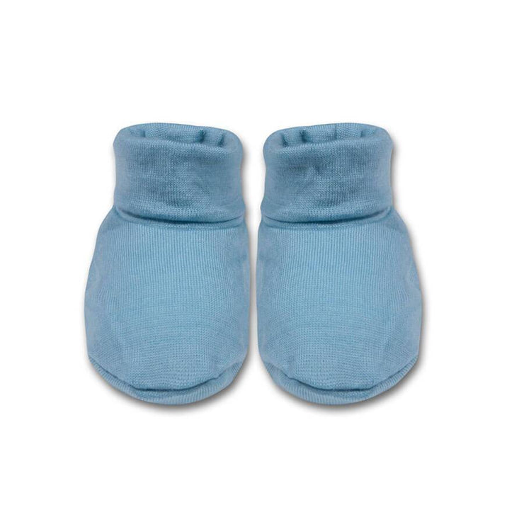 mokopuna baby booties in merino with foldable cuff in size OSFA_glacier