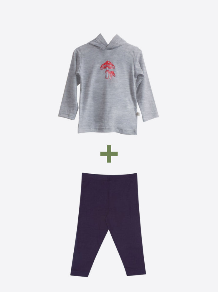 mokouna merino bundle with leggings and lightweight hoodie for toddler on sale