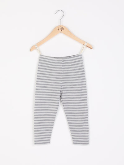 mokopuna leggings in merino with elastic waistband in size 000_cloudy bay stripe