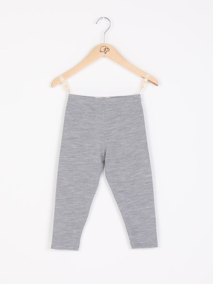 mokopuna leggings in merino with elastic waistband in size 3_mist
