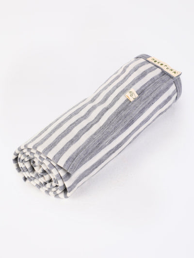 mokopuna blanket in merino, rectangular size in size OSFA_cloudy bay stripe