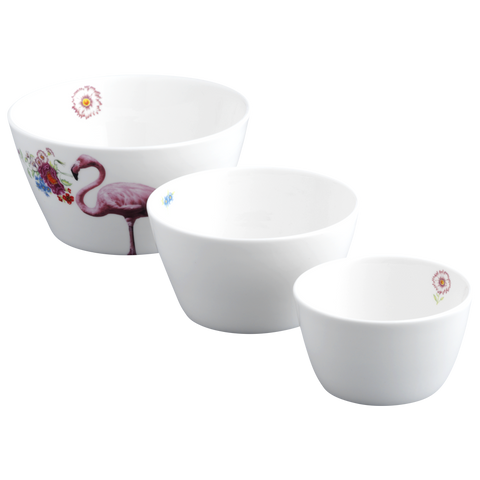 Flamingo Nesting Bowl Set