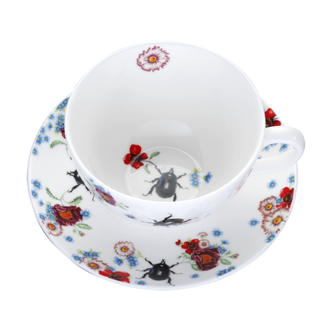 Scarab Beetle Cup & Saucer