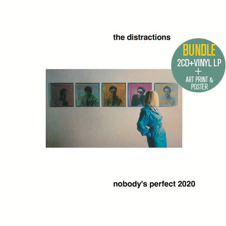 The Distractions/ Nobody's Perfect 2020 / 2CD+vinyl LP BUNDLE