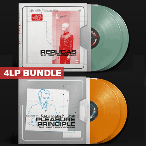 Gary Numan/Tubeway Army: 4LP coloured vinyl Specially priced BUNDLE – Replicas 2LP + The Pleasure Principle 2LP