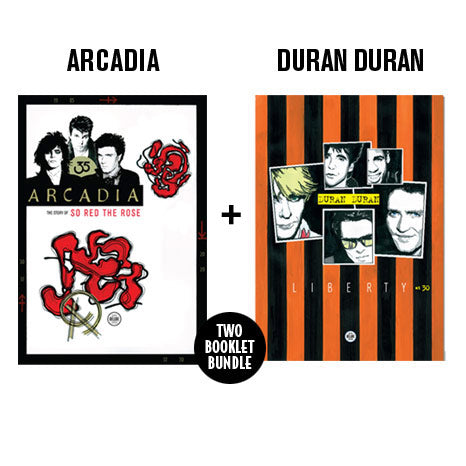 "BUNDLE: ""Arcadia: The Story of So Red The Rose"" and ""Duran Duran Liberty at 30"" exclusive SDE booklets"