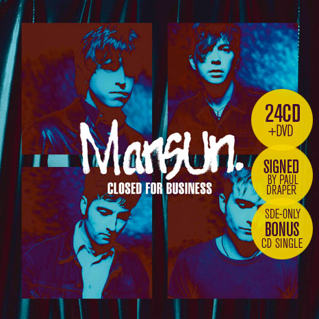 Mansun / Closed for Business: 25th anniversary box set (24CD+DVD) with exclusive CD single
