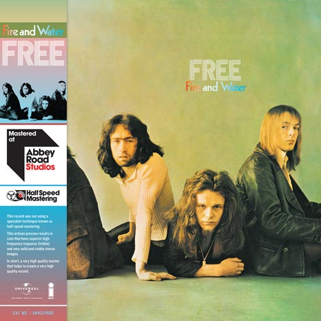 Free / Fire and Water half-speed mastered vinyl LP