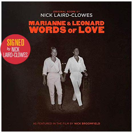 Marianne & Leonard: Words of Love -  original score on vinyl LP – signed by Nick Laird-Clowes