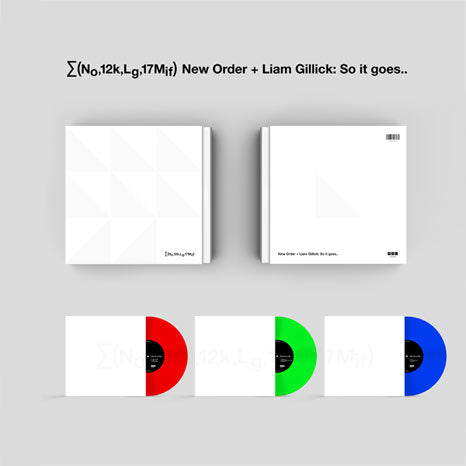 New Order / ∑(No,12k,Lg,17Mif) New Order + Liam Gillick: So it goes.. / Limited edition 3LP coloured vinyl