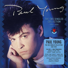 Paul Young / The CBS Singles Collection / 19CD+DVD box set with SIGNED print