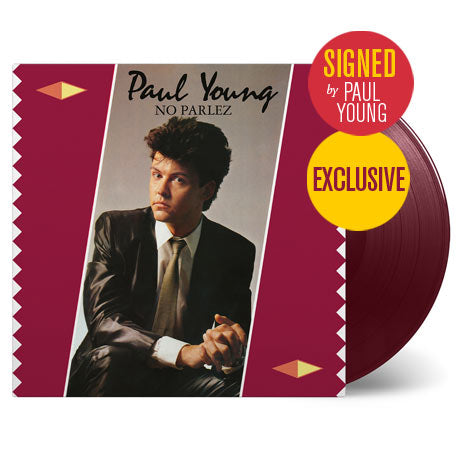 Paul Young / No Parlez coloured vinyl signed