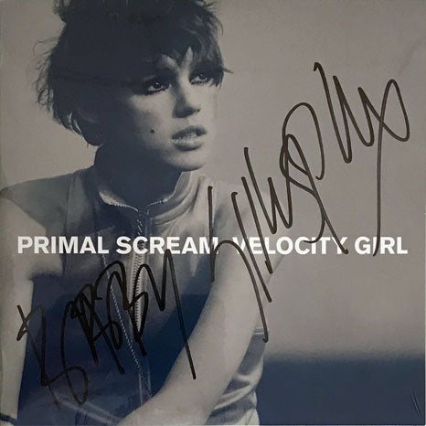 "Primal Scream / Velocity Girl 7"" single SIGNED by Bobbie Gillespie"
